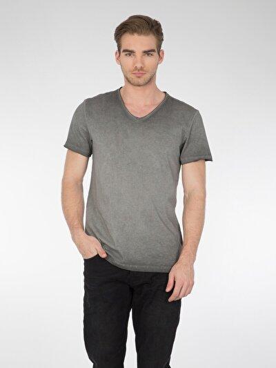 COLINS антрацит мужской футболки короткий рукав<br>Пол: мужской; Цвет: антрацит; Размер INT: XXL;
