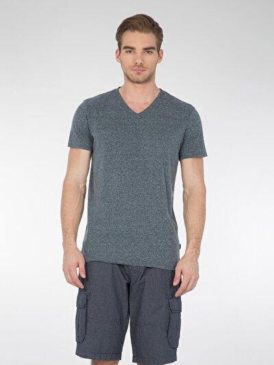 COLINS  мужской футболки короткий рукав<br>Пол: мужской; Цвет: темного индиго; Размер INT: S;