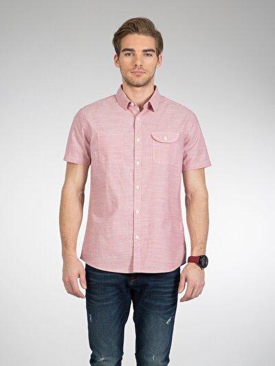 COLINS розовый мужской рубашки короткий рукав<br>Пол: мужской; Цвет: розовый; Размер INT: L;