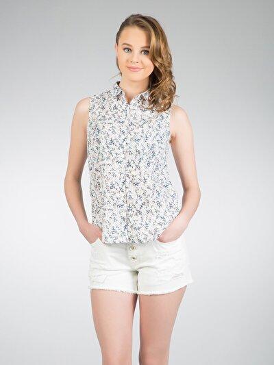 COLINS мульти женский рубашки короткий рукав<br>Пол: женский; Цвет: мульти; Размер INT: S;