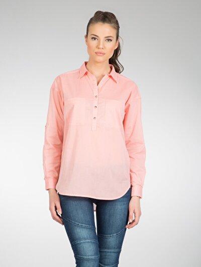 COLINS лосось женский рубашки длинний рукав<br>Пол: женский; Цвет: лосось; Размер INT: XL;