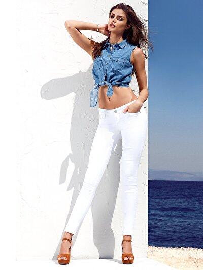 COLINS деним женский брюки<br>Пол: женский; Цвет: далия уош; Размер INT: None;