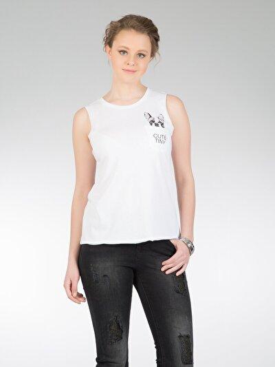 COLINS белый женский майки<br>Пол: женский; Цвет: белый; Размер INT: S;