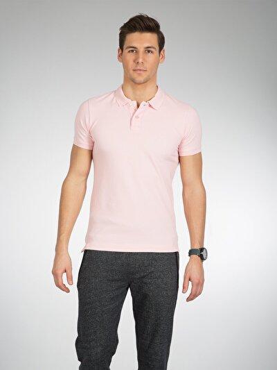 COLINS розовый мужской футболки-поло к. рукав<br>Пол: мужской; Цвет: светло-розовый; Размер INT: L;
