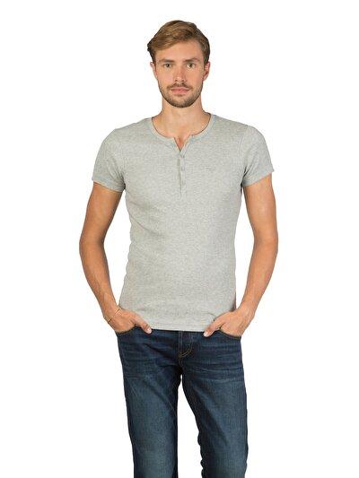COLINS серый мужской футболки короткий рукав<br>Пол: мужской; Цвет: смешанный серый; Размер INT: S;
