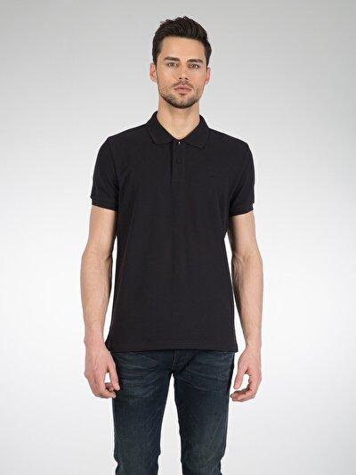 COLINS черный мужской футболки-поло к. рукав<br>Пол: мужской; Цвет: черный; Размер INT: L;