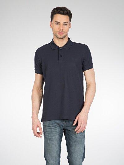 COLINS синий мужской футболки-поло к. рукав<br>Пол: мужской; Цвет: синий; Размер INT: S;