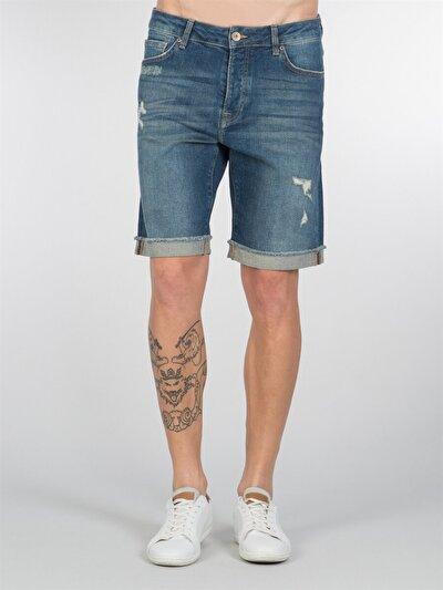 COLINS деним мужской шорты<br>Пол: мужской; Цвет: тинт херон уош; Размер INT: M;