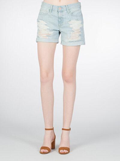 COLINS деним женский шорты<br>Пол: женский; Цвет: понд уош; Размер INT: 34;