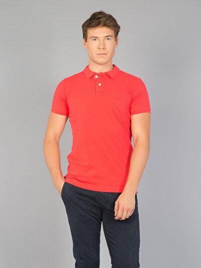 COLIN'S розовый мужской футболки-поло к. рукав