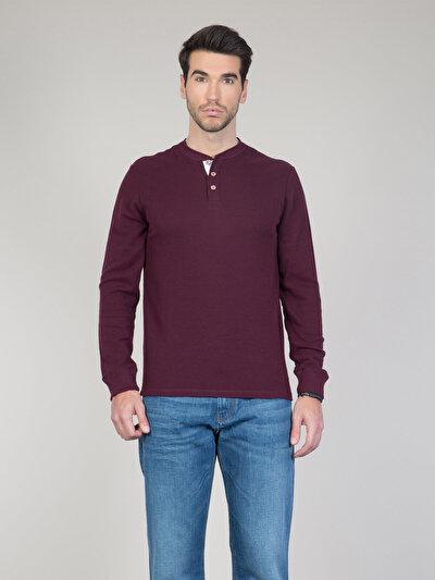 Купить со скидкой COLIN'S бордовый мужской футболки длинный рукав