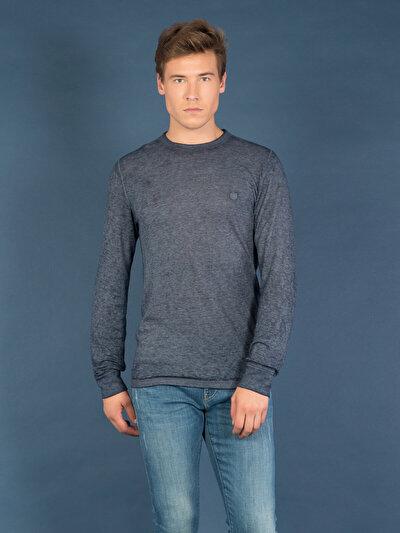 Купить со скидкой COLIN'S голубой мужской футболки длинный рукав