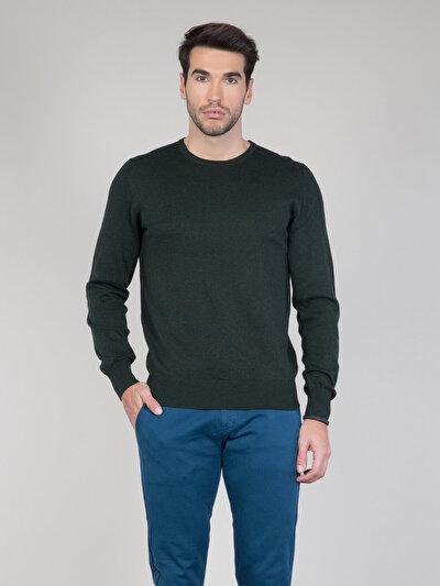 COLINS зеленый мужской свитеры<br>Пол: мужской; Цвет: смешанный зеленый; Размер INT: XXL;
