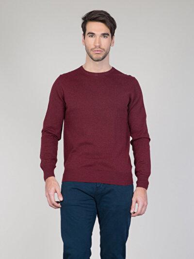 COLINS бордовый мужской свитеры<br>Пол: мужской; Цвет: бордовый меланж; Размер INT: L;