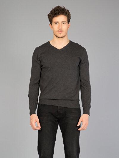 COLINS антрацит мужской свитеры<br>Пол: мужской; Цвет: смешанный антрацит; Размер INT: XL;