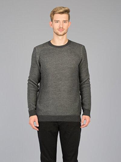 COLINS антрацит мужской свитеры<br>Пол: мужской; Цвет: смешанный антрацит; Размер INT: S;