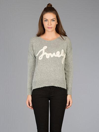 COLINS серый женский свитеры<br>Пол: женский; Цвет: светло серый меланг; Размер INT: L;