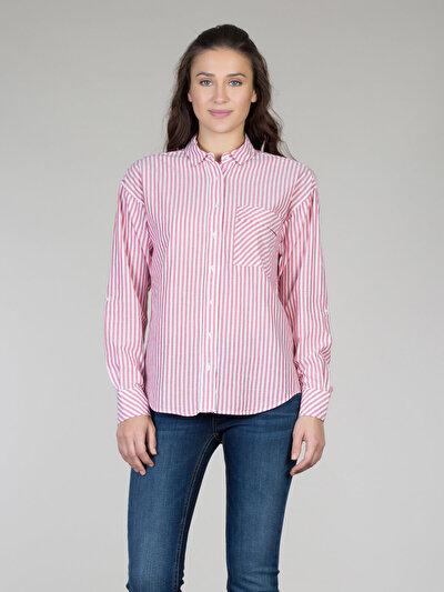 COLINS красный женский рубашки длинний рукав<br>Пол: женский; Цвет: светло-красный; Размер INT: S;