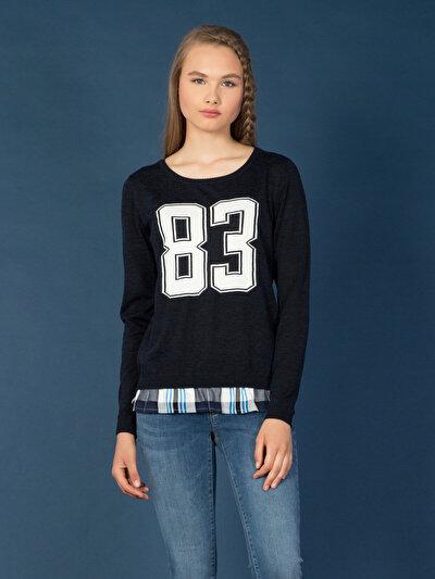 COLIN'S синий женский свитеры