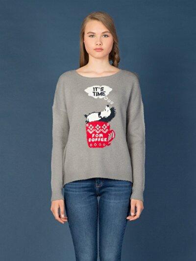 COLINS серый женский свитеры<br>Пол: женский; Цвет: смешанный серый; Размер INT: M/L;