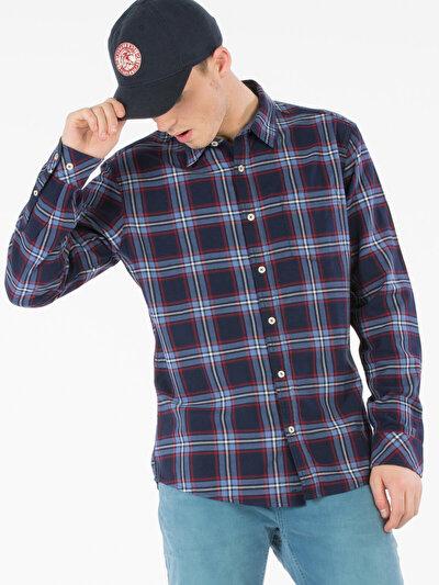 COLINS синий мужской рубашки длинний рукав<br>Пол: мужской; Цвет: синий; Размер INT: S;