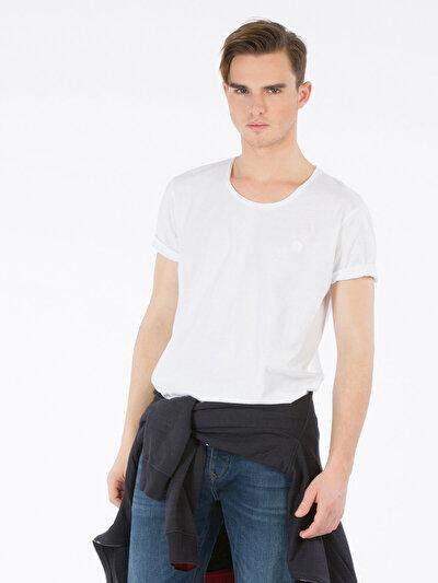 Купить со скидкой COLIN'S белый мужской футболки короткий рукав