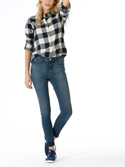 COLINS  женский брюки<br>Пол: женский; Цвет: албиния уош; Размер INT: 27/30;