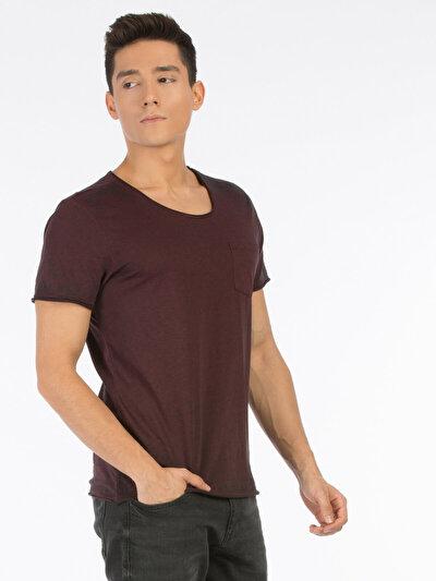 COLINS бордовый мужской футболки короткий рукав<br>Пол: мужской; Цвет: бордовый меланж; Размер INT: XXL;