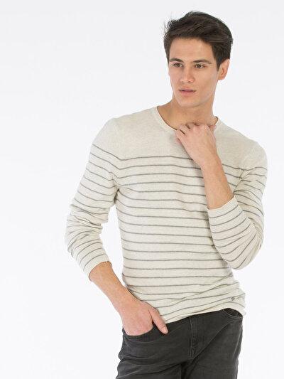 COLINS белый мужской свитеры<br>Пол: мужской; Цвет: снег меланж; Размер INT: L;