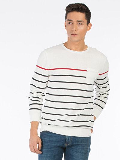 COLINS белый мужской свитеры<br>Пол: мужской; Цвет: белый; Размер INT: M;