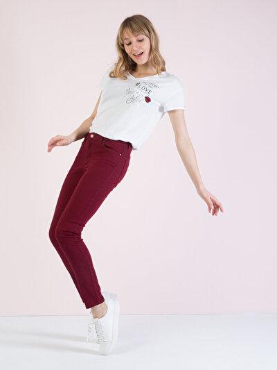 COLINS бордовый женский брюки<br>Пол: женский; Цвет: бордовый; Размер INT: 28/30;