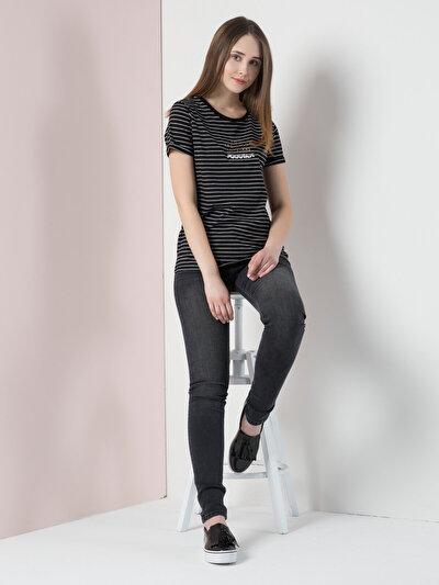 COLIN'S черный женский футболки короткий рукав