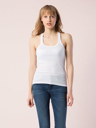 COLINS белый женский майки<br>Пол: женский; Цвет: белый; Размер INT: M;