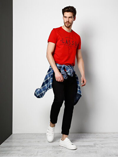 COLINS красный мужской футболки короткий рукав<br>Пол: мужской; Цвет: красный; Размер INT: M;