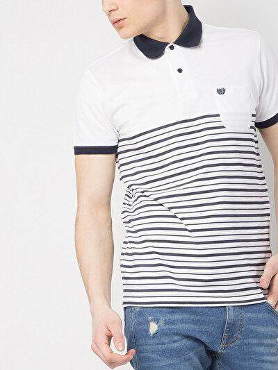 COLINS белый мужской футболки-поло к. рукав<br>Пол: мужской; Цвет: белый; Размер INT: S;