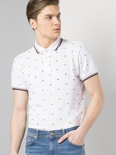 COLINS белый мужской футболки-поло к. рукав<br>Пол: мужской; Цвет: белый; Размер INT: L;
