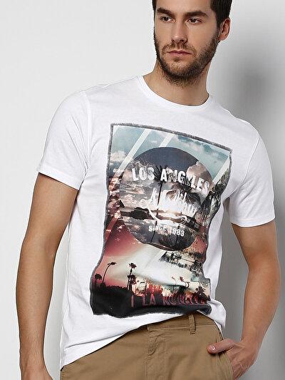 COLINS белый мужской футболки короткий рукав<br>Пол: мужской; Цвет: белый; Размер INT: XL;
