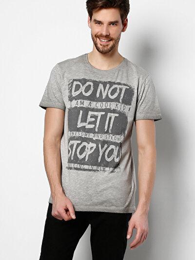 COLINS серый мужской футболки короткий рукав<br>Пол: мужской; Цвет: серый; Размер INT: S;