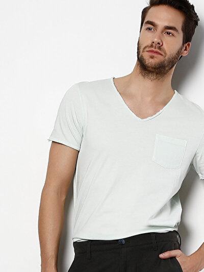 COLINS зеленый мужской футболки короткий рукав<br>Пол: мужской; Цвет: зеленая мята; Размер INT: S;