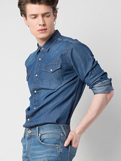 COLINS  мужской рубашки длинний рукав<br>Пол: мужской; Цвет: парма уош; Размер INT: XXL;