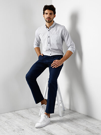COLINS синий мужской брюки<br>Пол: мужской; Цвет: темно-синий; Размер INT: 32/32;