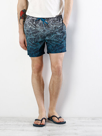 COLINS синий мужской пляжные шорты<br>Пол: мужской; Цвет: синий; Размер INT: L;
