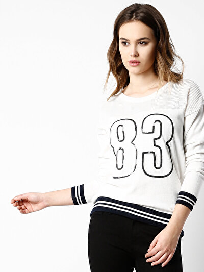 COLINS белый женский свитеры<br>Пол: женский; Цвет: белый; Размер INT: L;