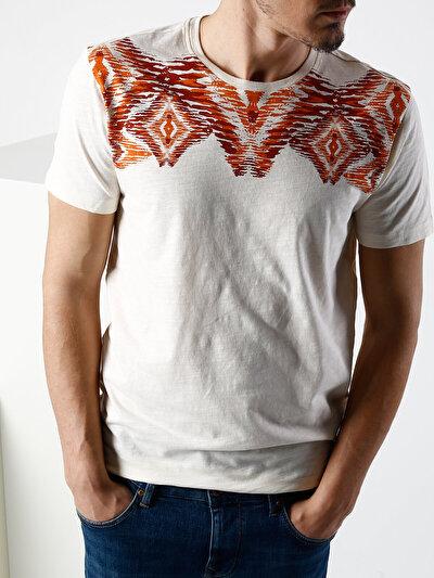 COLINS бежевый мужской футболки короткий рукав<br>Пол: мужской; Цвет: бежевый; Размер INT: M;