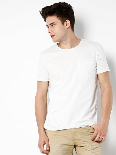COLINS белый мужской футболки короткий рукав<br>Пол: мужской; Цвет: снег меланж; Размер INT: S;