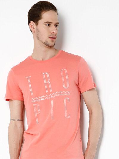 COLINS кораловый мужской футболки короткий рукав<br>Пол: мужской; Цвет: светлый коралл; Размер INT: L;