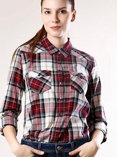 Купить со скидкой COLIN'S бордовый женский рубашки длинний рукав