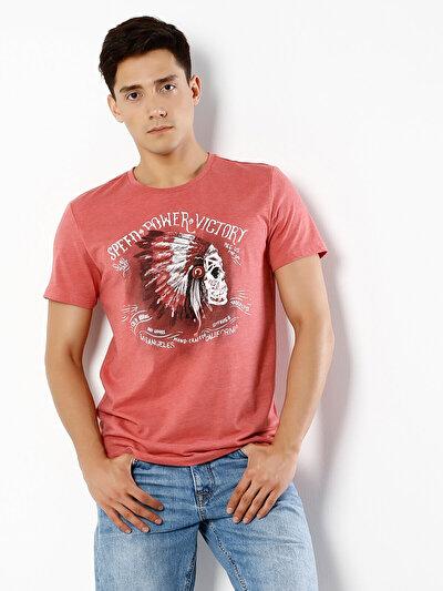 COLINS лосось мужской футболки короткий рукав<br>Пол: мужской; Цвет: смешанный лосось; Размер INT: XL;