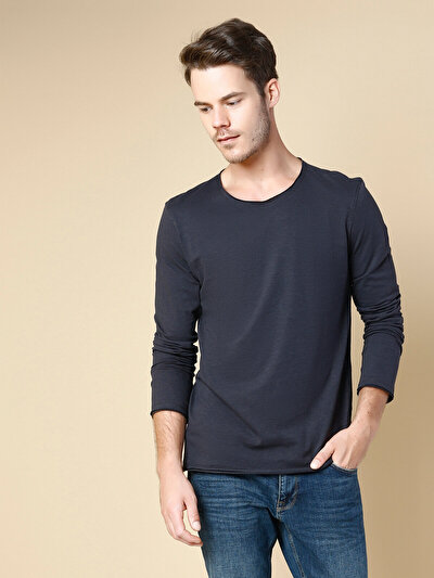 COLINS антрацит мужской футболки длинный рукав<br>Пол: мужской; Цвет: антрацит; Размер INT: XL;