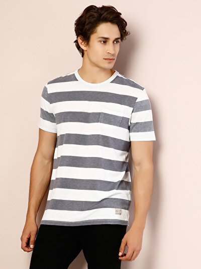 COLIN'S белый мужской футболки короткий рукав